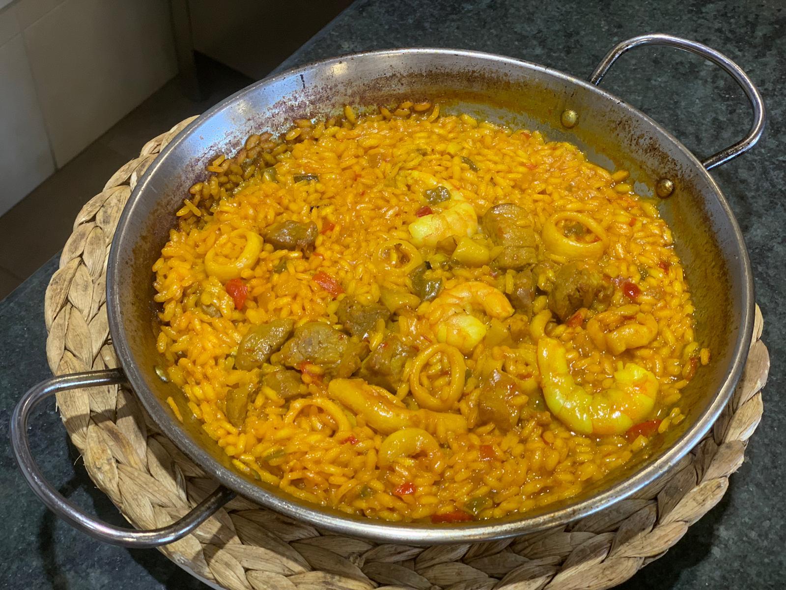 arroz de presa y marisco